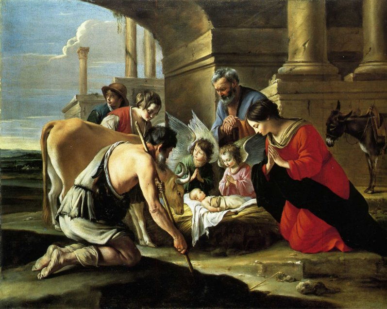 Матье Ленен. Поклонение пастухов / Mathieu Le Nain. Adoration by the shepherds