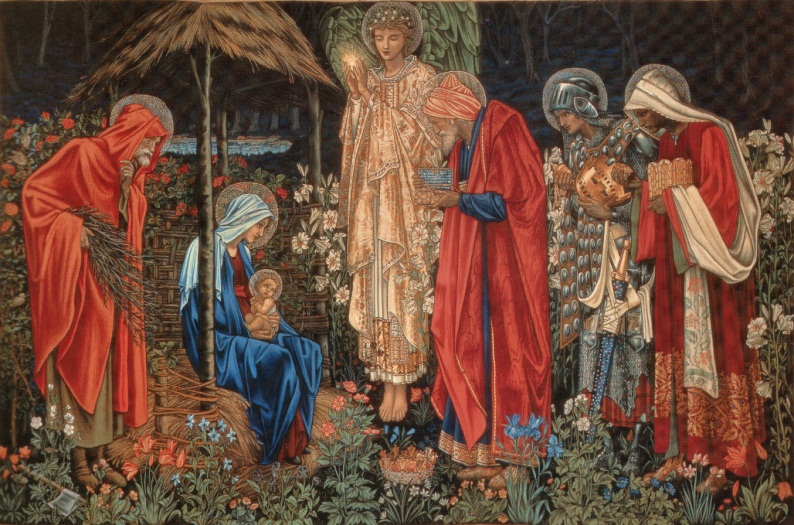 Эдвард Бёрн-Джонс. Поклонение волхвов / Edward Coley Burne-Jones. Adoration of the Magi
