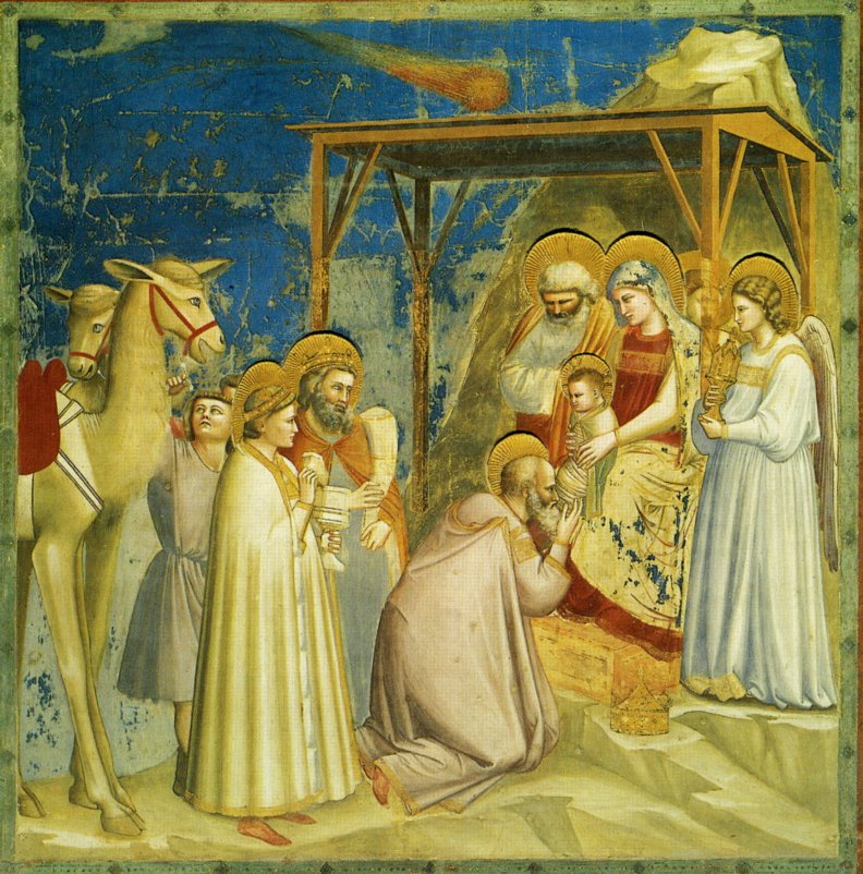 Джотто. Поклонение волхвов / Giotto. Adoration of the Magi