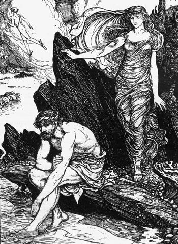 H. J. Ford Одиссей и Калипсо
