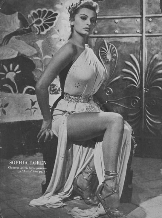София Лорен в фильме Аттила — бич Божий / Sophia Loren in Attila (1955 film)