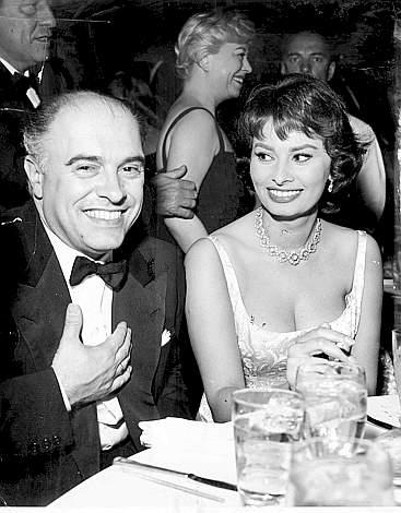 София Лорен и Карло Понти. Фото / Carlo Ponti and Sophia Loren. Photo