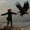 Казахи в Монголии: охота с беркутами (24 фото)